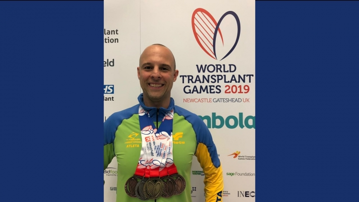 Participação de paciente transplantado de medula óssea em Jogos Mundiais dos Transplantados - Superação do paciente motiva a todos!