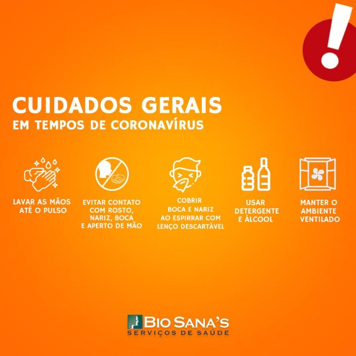 Cuidados gerais em tempos de Coronavírus
