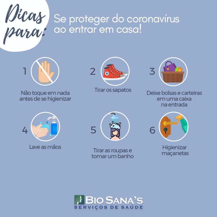 Dicas para se proteger do coronavírus ao chegar à sua casa