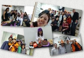 Festa de aniversário da Dra. Cristina com clima de Halloween