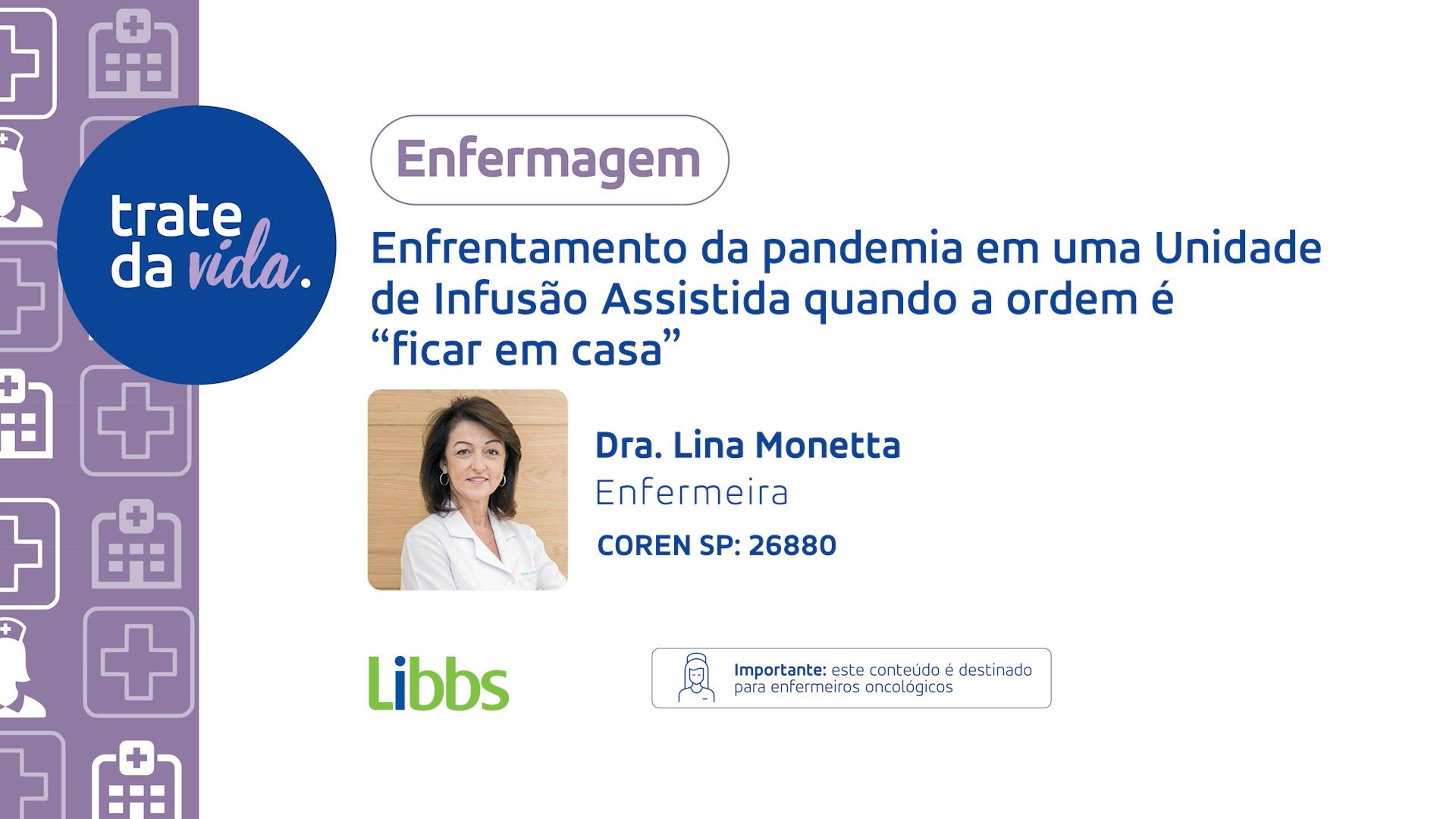 Enfermeira da BIO SANA'S, Lina Monetta, participa na plataforma LIBBS: Trate da Vida